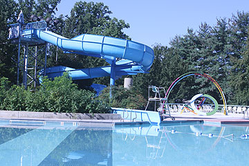 Outdoor Recreation Pool With Slide