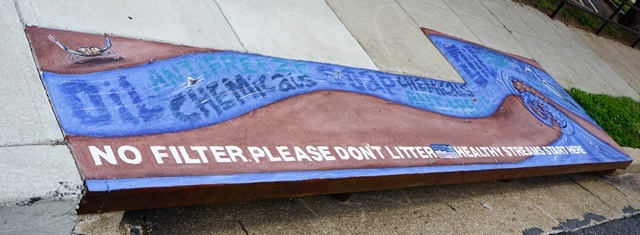 No Filter Please Dont Litter Mural