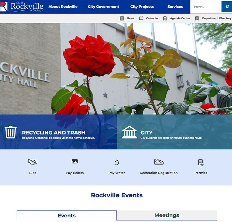 City of Rockville Homepage