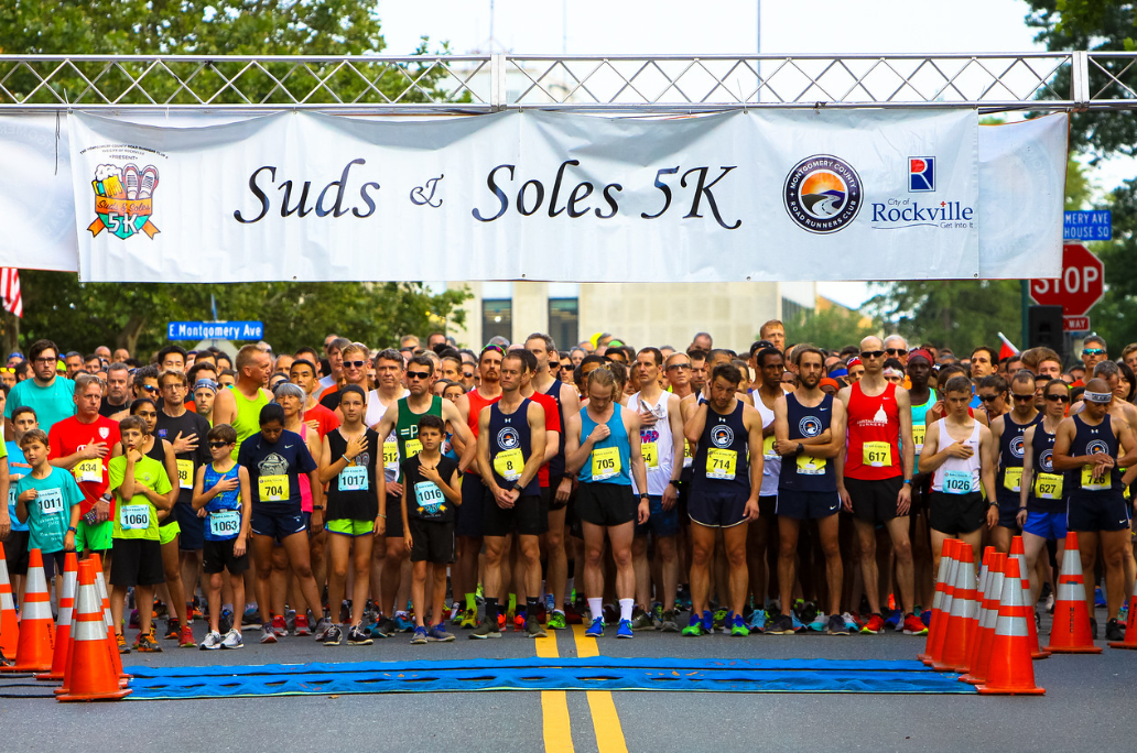 Suds and soles Start line