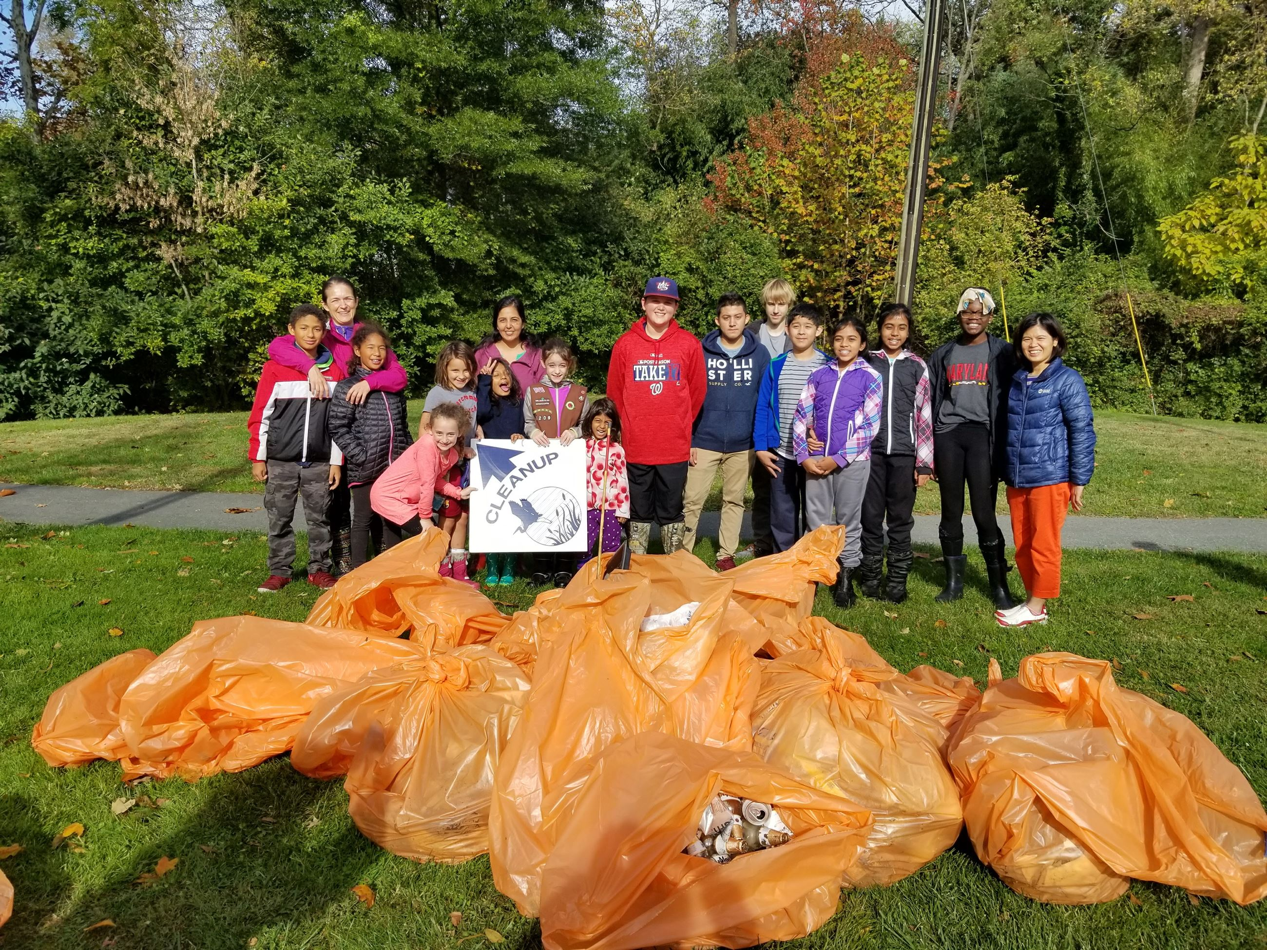 Twinbrook Stream Cleanup Fall 2017