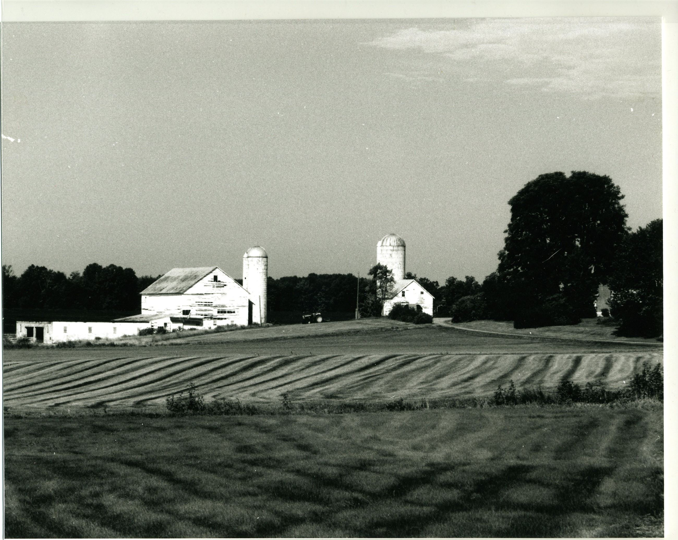 King Farm historic black and white photo