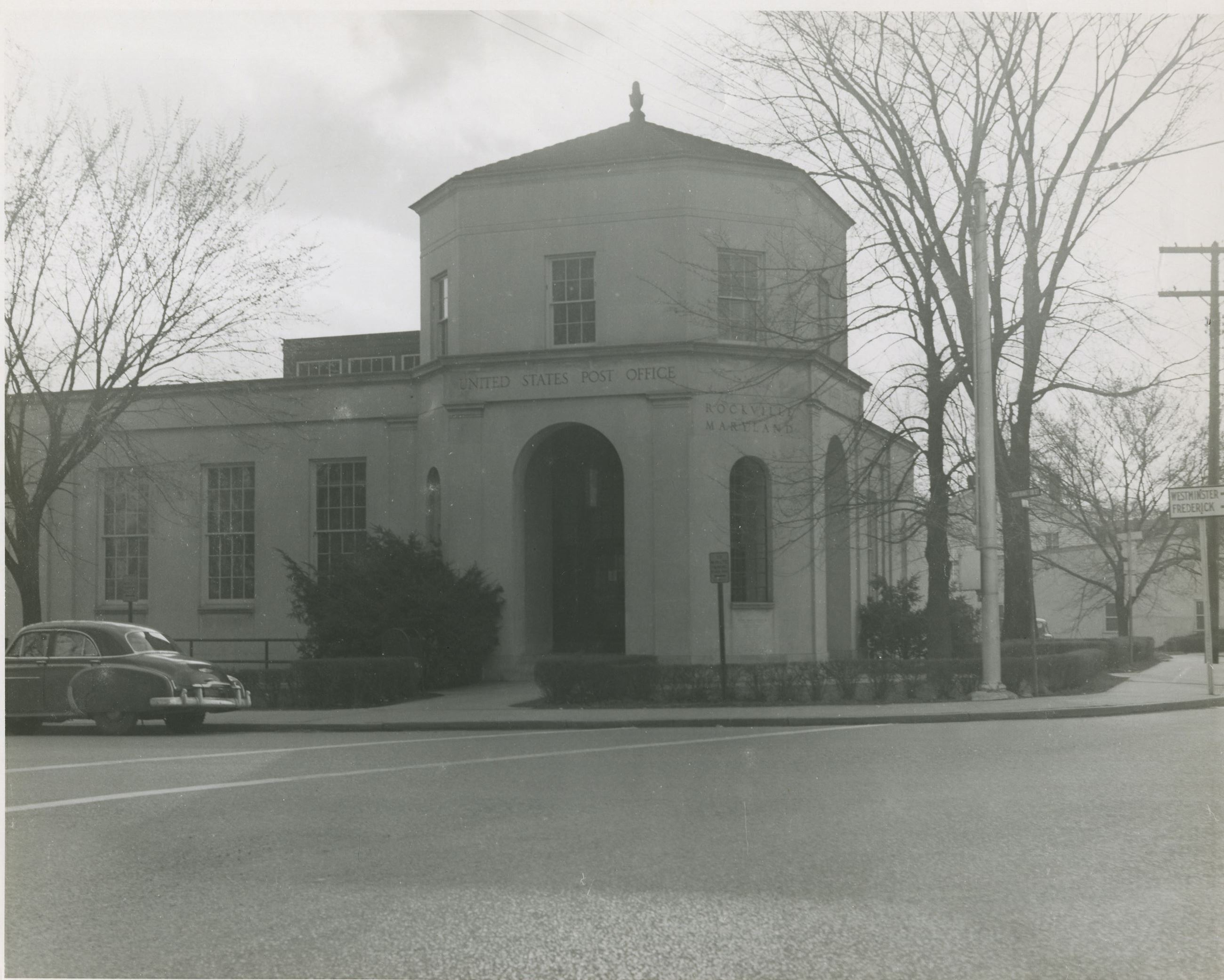 Historical Photo of Post Office