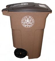 brown recycling cart