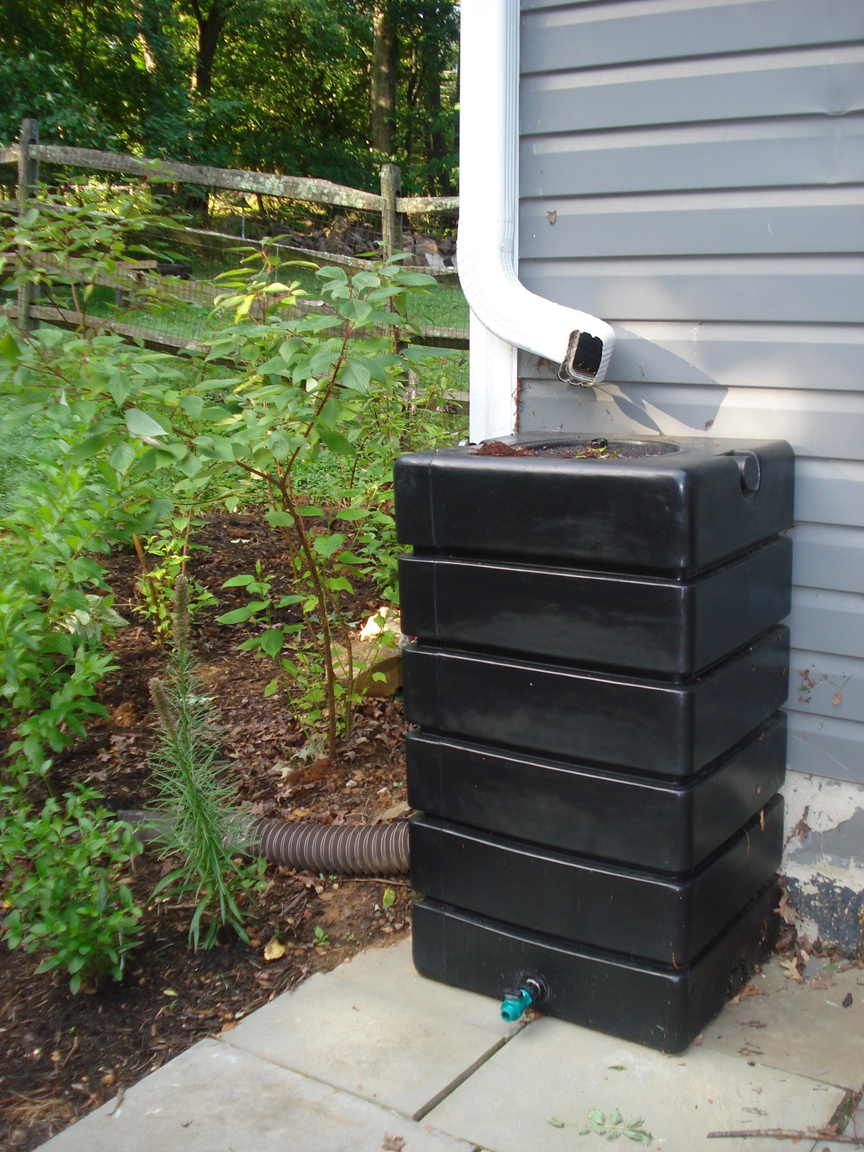 Black Square Rain Barrel
