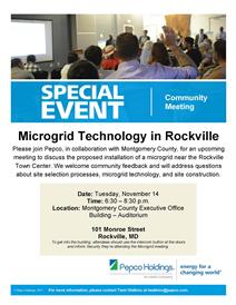 Pepco microgrid meeting invite