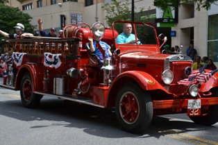 Fire engine in parade