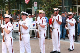 Men in parade