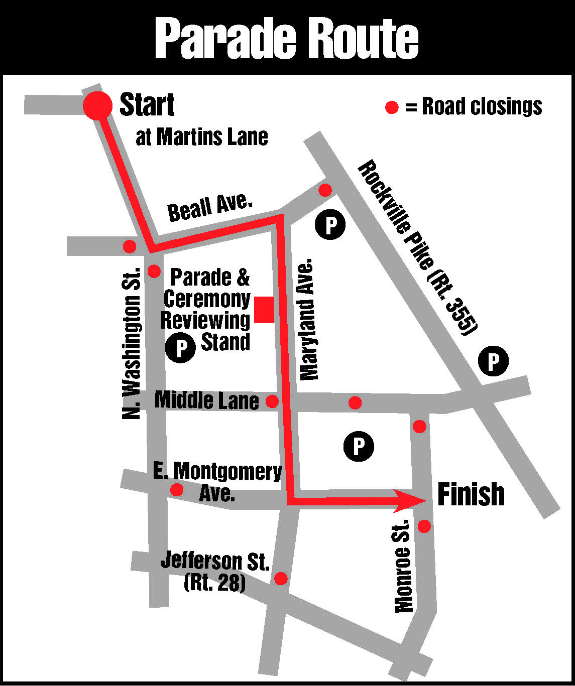 Parade Rout Map