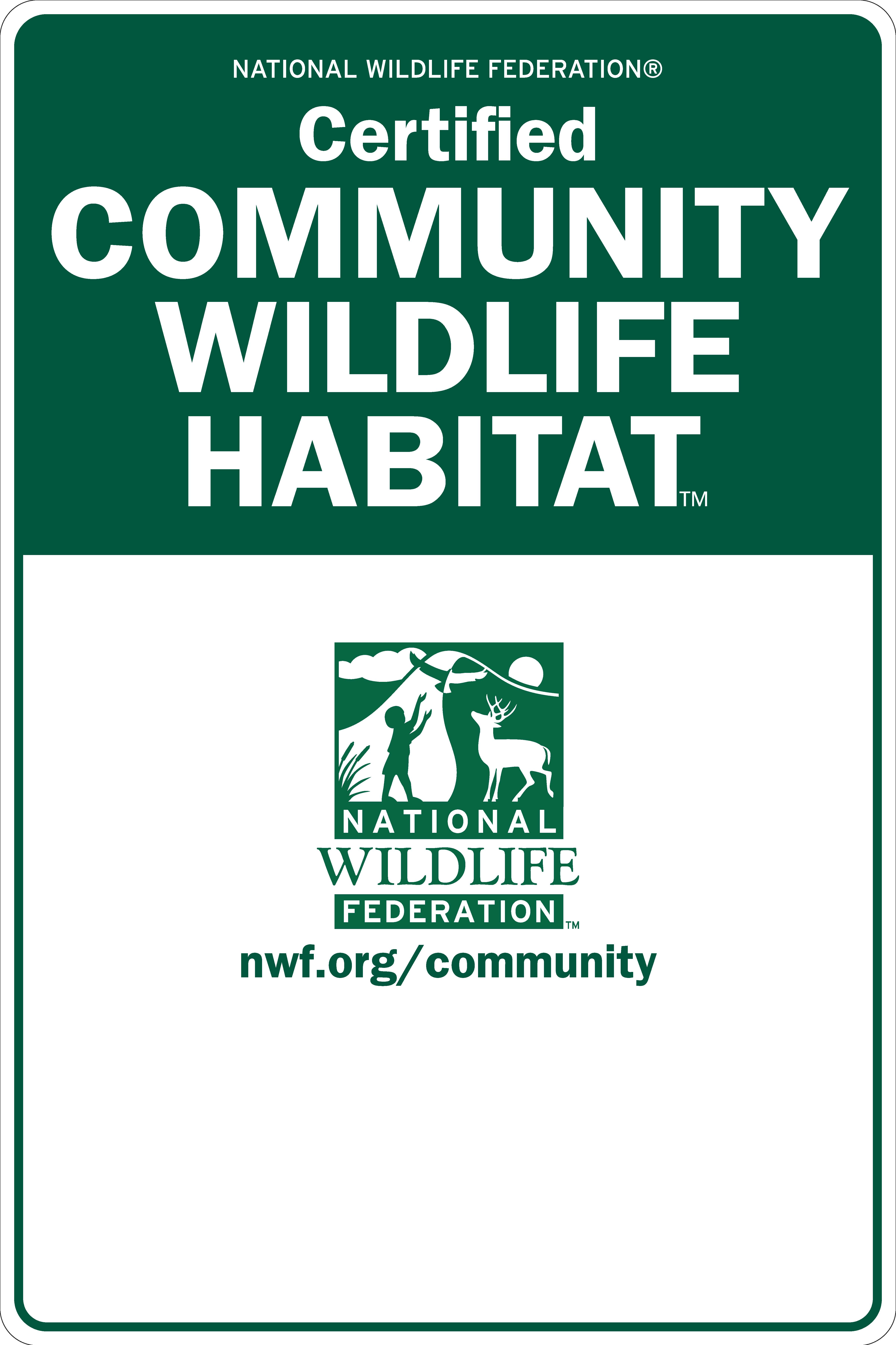 Community Wildlife Habitat Sign