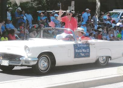 John Riding in parade