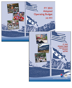 Report Covers - FY 2013 Adopted Operating Budget and Adopted Capital Improvements Program