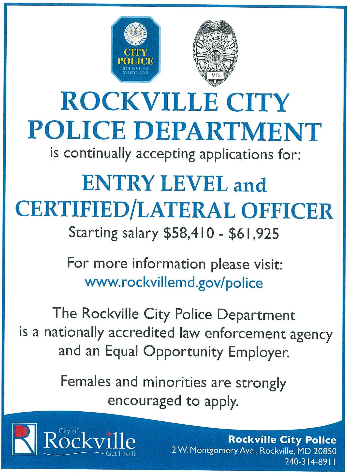 Police Application ad