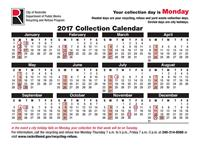 Monday Recycling Schedule 2017