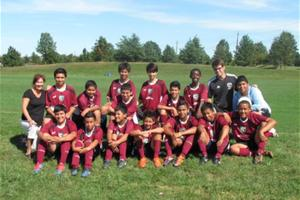 Latino Youth Soccer Program participants