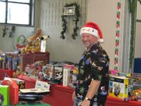 Holiday Drive volunteer at Secret Toy Shop