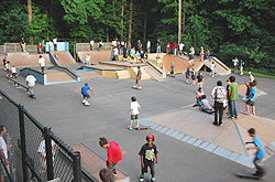 Kids enjoying a day at the Skate Park