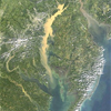 Sediment draining into the Chesapeake Bay after a rain storm