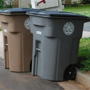 Recycle and refuse bins