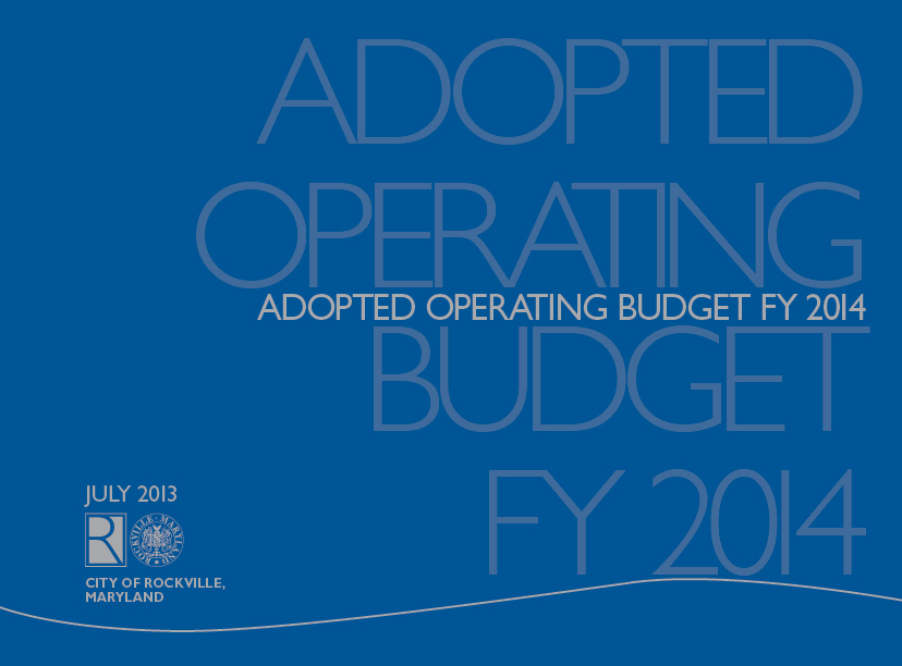 Fiscal Year 2014 Adopted Budget Cover