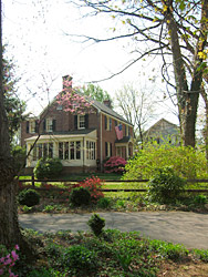 A brick house located in Rockville's Historic West End Neighborhood